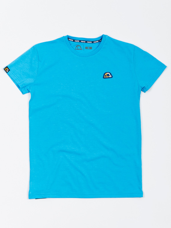 MANTO t-shirt EMBLEM light blue