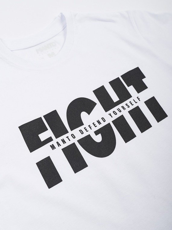 MANTO t-shirt FIGHT white