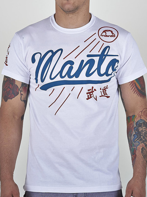 MANTO t-shirt JERSEY white