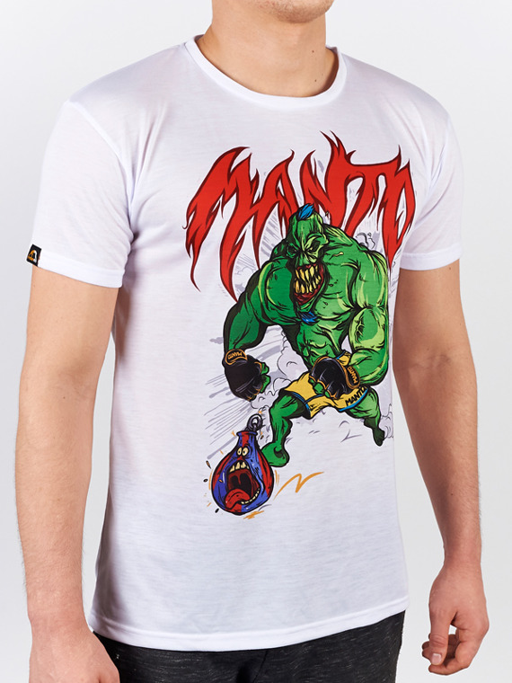MANTO t-shirt MONSTER white