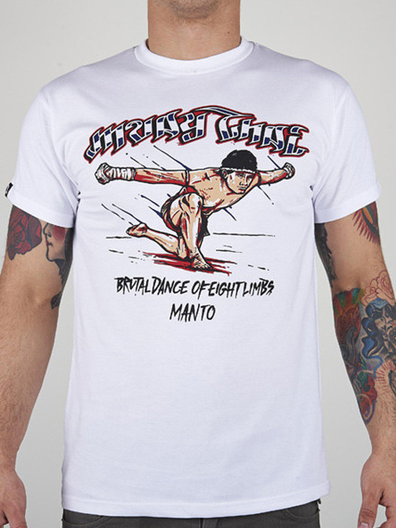 MANTO t-shirt MUAY THAI white