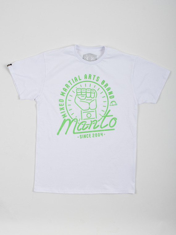 MANTO t-shirt NEON white