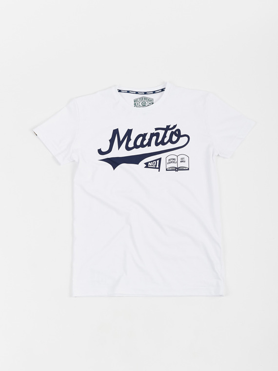 MANTO t-shirt NUMBER ONE white