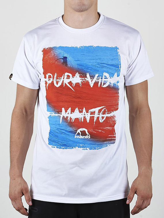 MANTO t-shirt PURA VIDA white