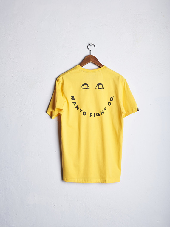 MANTO t-shirt SMILEY yellow