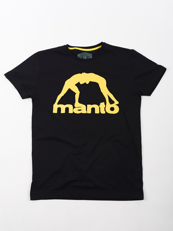 MANTO t-shirt VIBE black with yellow print