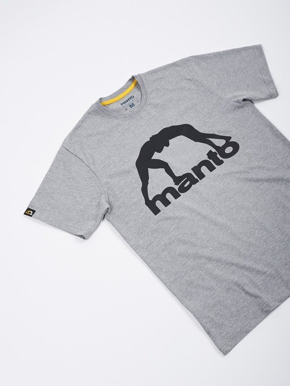 MANTO t-shirt VIBE heather grey