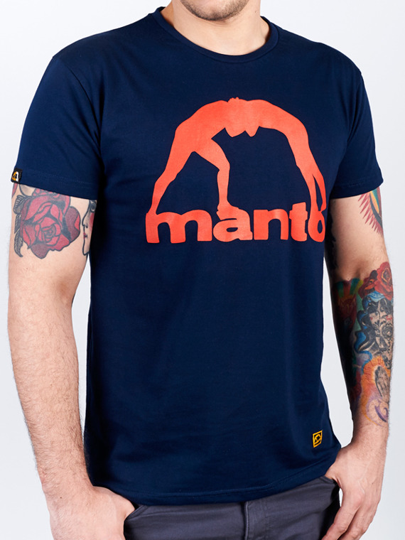MANTO t-shirt VIBE navy blue