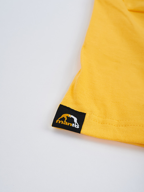 MANTO t-shirt VIBE yellow