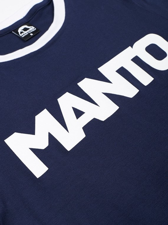 MANTO t-shirt VINTAGE navy blue