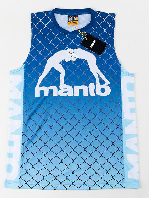 MANTO tank top CAGE blue