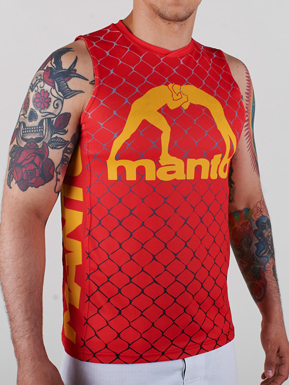 MANTO tank top CAGE red