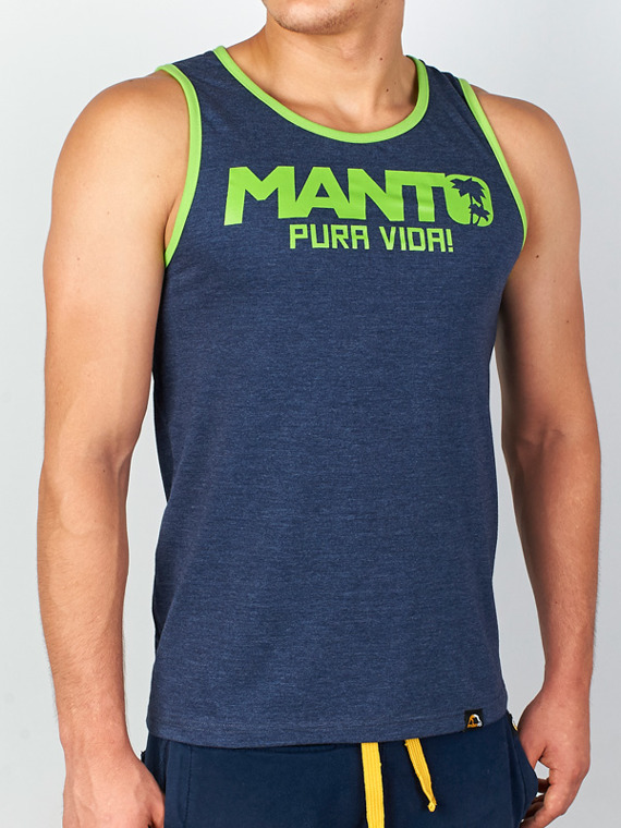 MANTO tank top PURA VIDA navy blue denim