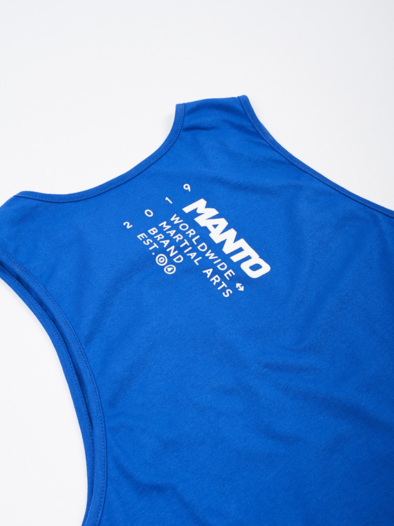MANTO tank top STAMP navy blue