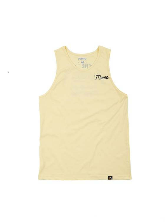 MANTO tank top TRIP yellow