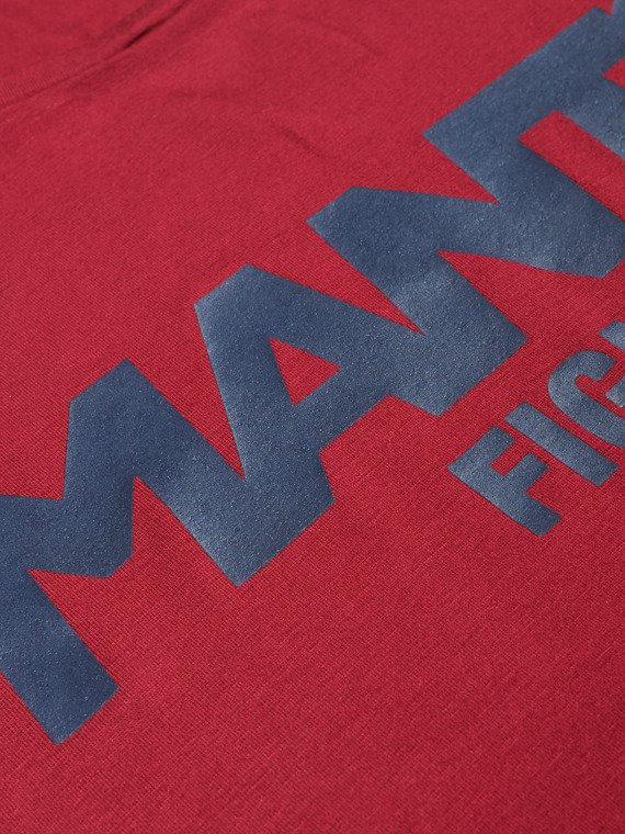 MANTO tanktop t-shirt FIGHT maroon