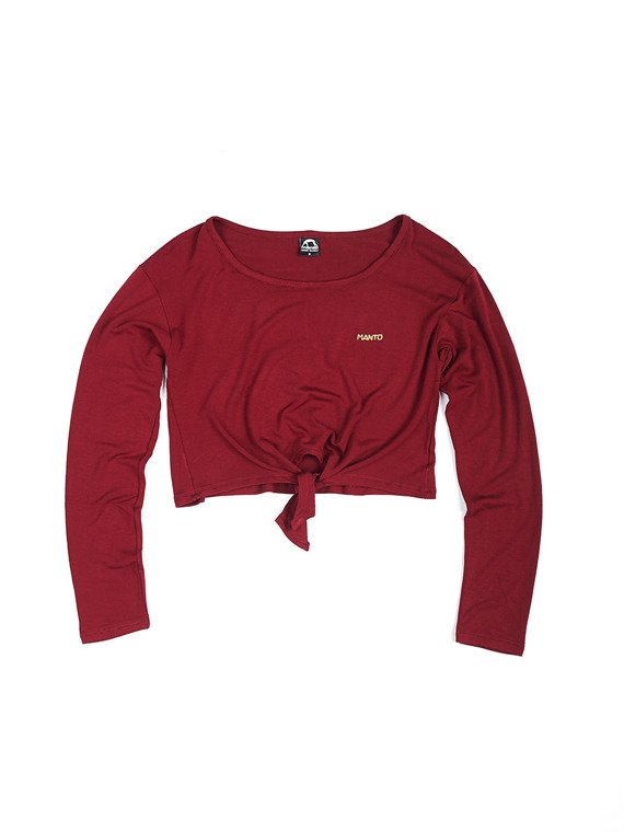 MANTO top longsleeve FLASH maroon