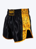 MANTO fightshorts MUAY THAI FISTS black/yellow