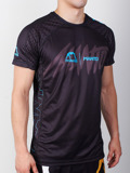 MANTO performance t-shirt HYPER black/blue
