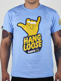 MANTO t-shirt HANG LOOSE light blue