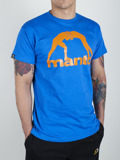 MANTO t-shirt LOGO VIBE blue