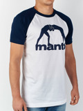 MANTO t-shirt RAGLAN navy blue white