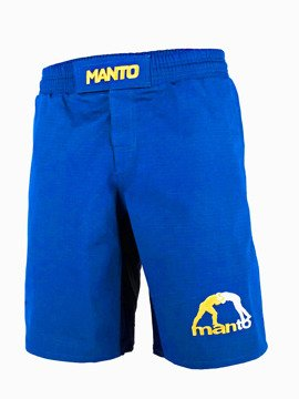 MANTO fight shorts LOGO RipStop 4.0 blau