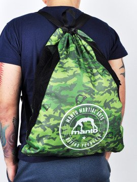 MANTO gym sack CAMO grun