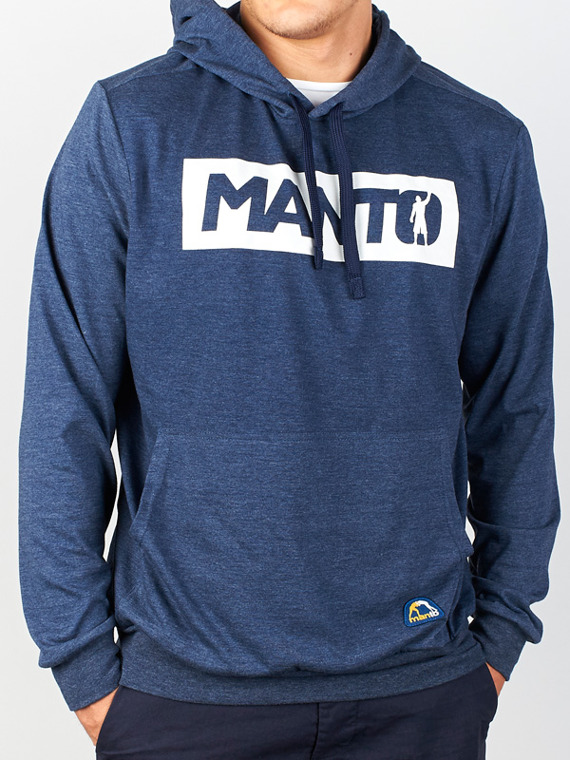 MANTO Kapuzen-Sweatshirt CHAMP marine blau denim