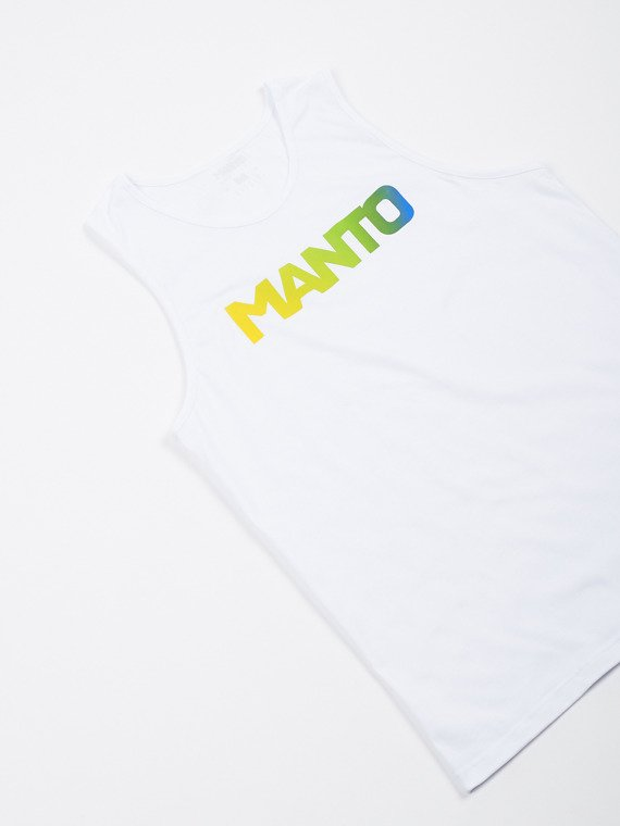 MANTO Muskelshirt LOGOTYPE RIO weiss