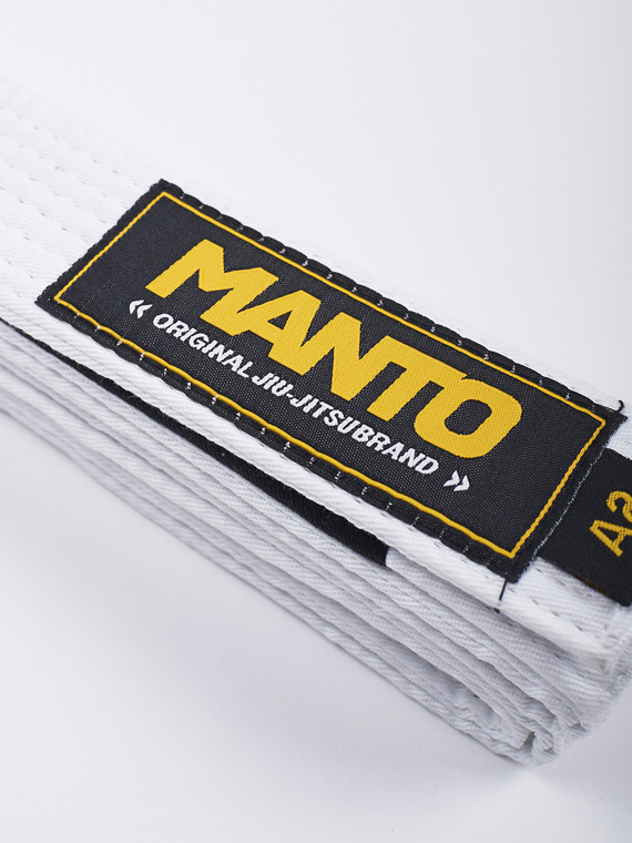 MANTO belt BJJ ORIGINAL white