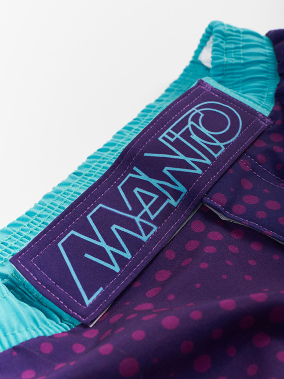 MANTO fight shorts DOTS violett