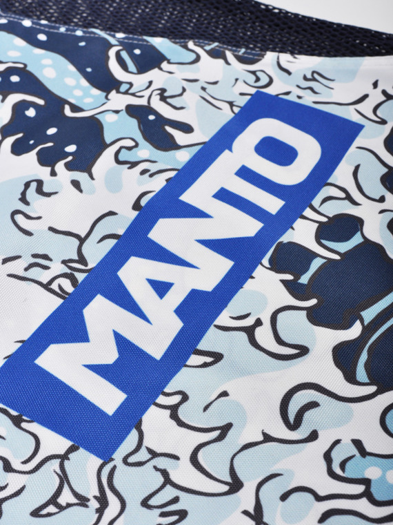 MANTO gym sack WAVES marine blau