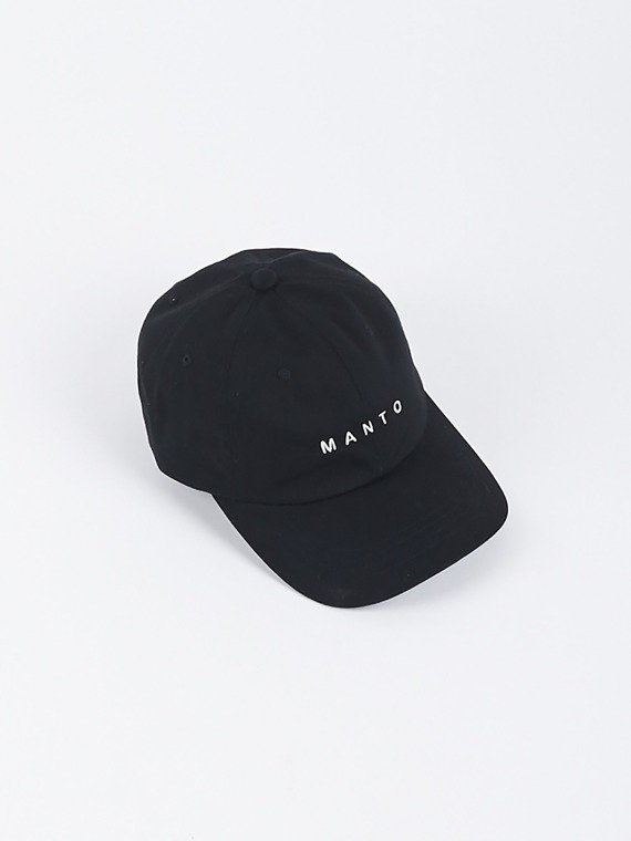 MANTO low profile cap LOGOTYPE schwarz