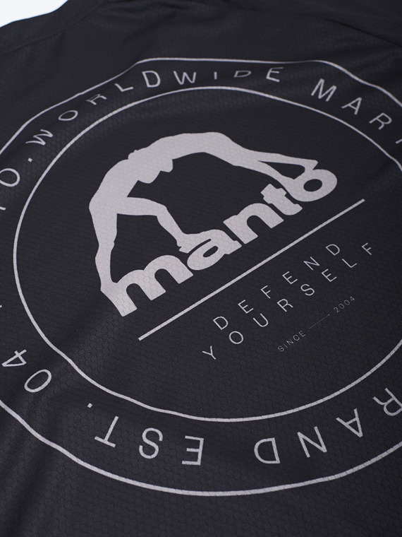 MANTO performance t-shirt SIGNS schwarz