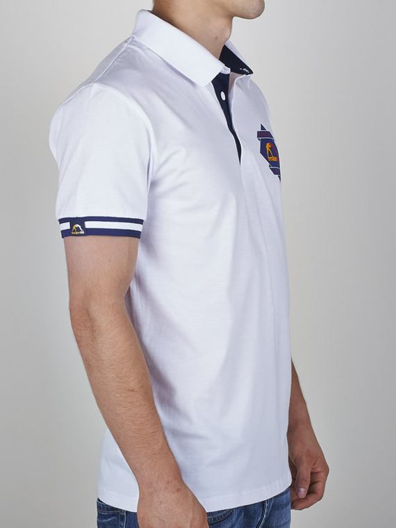 MANTO polo MARTIAL ARTS white