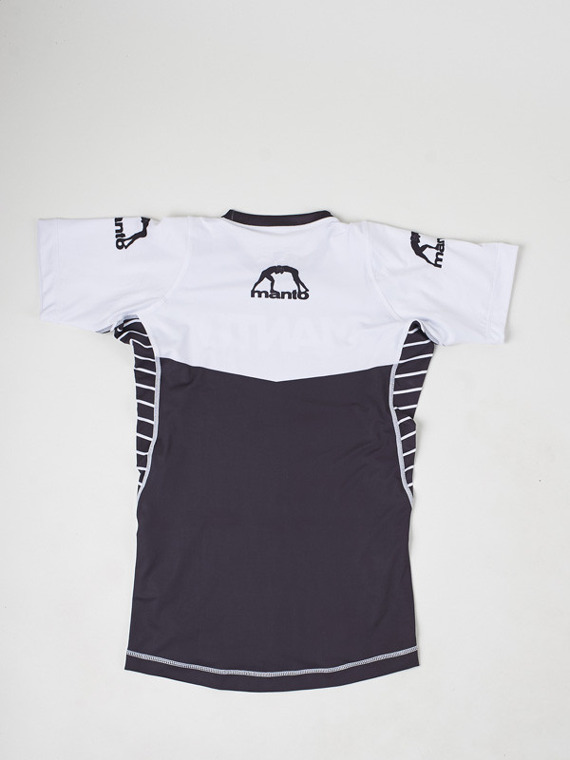 MANTO short sleeve rashguard CHAMP black/white
