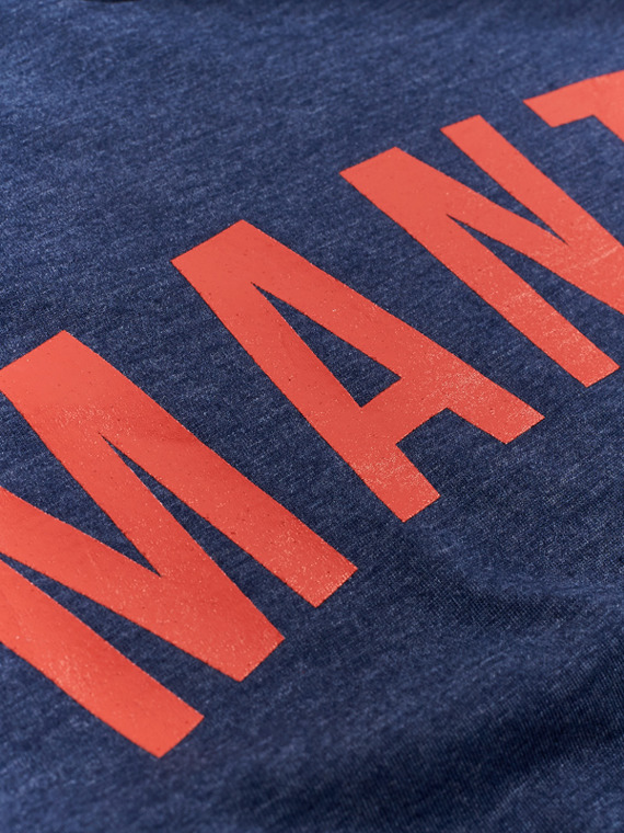 MANTO t-shirt ARC denim blau