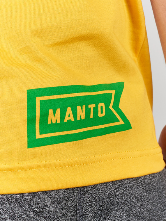 MANTO t-shirt FLAG gelb