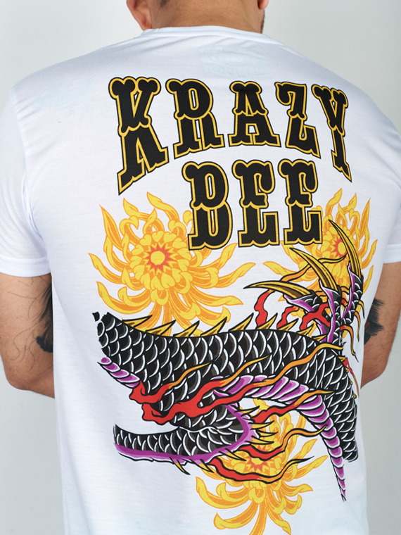 MANTO t-shirt KRAZY BEE DRAGON weiss