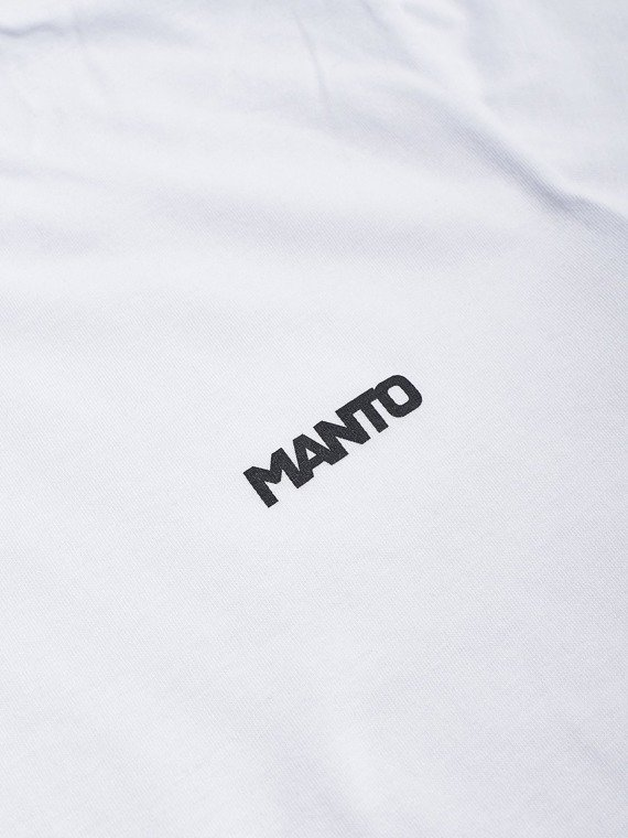 MANTO t-shirt SMALL LOGOTYPE weiss
