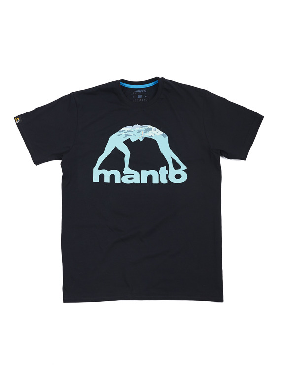 MANTO t-shirt SURF schwarz