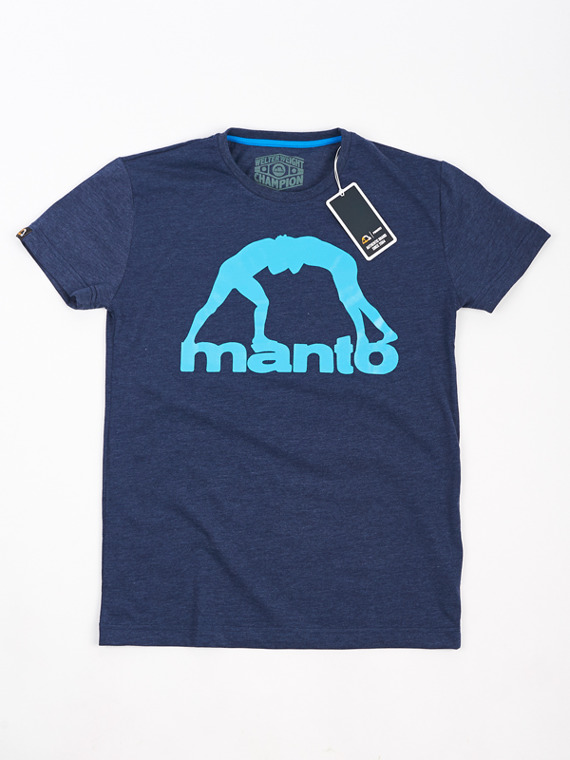 MANTO t-shirt VIBE denim blau