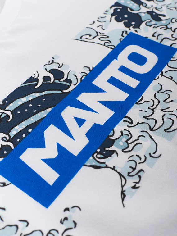 MANTO t-shirt WAVES weiss