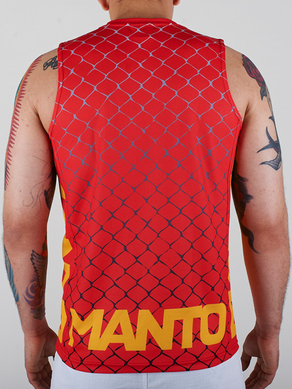MANTO tank top CAGE rot
