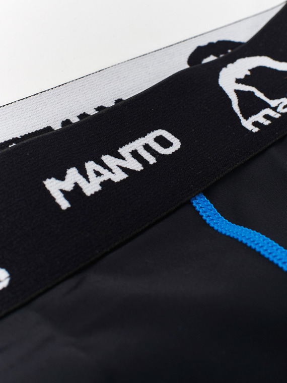 MANTO trainings-kompressionshose BASICO schwarz blau