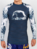 MANTO long sleeve rashguard WAVES marineblau