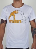 MANTO performance tee LOGO white